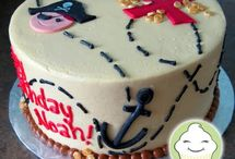 Cake themes - pirates / Cakes for pirate themed birthdays.