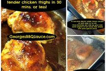 "Chicken & Foul ~ George's BBQ Sauce / George loves chicken and all sorts of foul... and is the perfect dress'n for them all. A few of the ""usuals"" but we love crawling ""outside the bottle"" with our recipes too!"