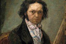 Francisco Goya(1746-1828)_spanish romanticism / neoklasisizm e tepki, duygululuk, bireysellik, öznellik, kişisel tanımlar, kompozisyonu oluşturan manzara, akıldışılık, düşsellik vs vs