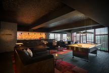 Ovolo Southside Lo Lounge / A signature at all Ovolo Hotels, the Lo Lounge is a sleek multipurpose social area designed for hotel guests to work, network or simply kick back and relax.