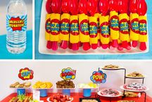Let's Party: Superhero / Superhero Party ideas.  Ideas used at a Girls party and sleepover.