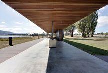 The Glenorchy Art and Sculpture Park pavilion