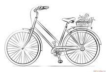 Cycling Emblems / Emblems:  Cyclist Pedal Pusher Cycling