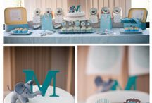 Elephant Party Shower Ideas / Elephant themed birthday party ideas and elephant themed baby shower ideas! Elephant decor, food, treats, recipes, desserts, favors, banners, backdrops and more! All from KarasPartyIdeas.com!