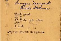 Tyler Knott Gregson. / by Arielle Cheh
