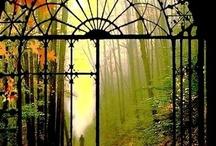 through the garden gate / gates