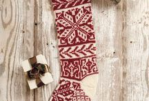 christmas stokking knit
