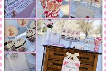 Roses and kittens birthday party theme
