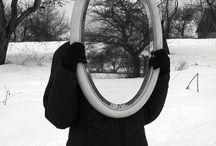Portretten reflectie ramen