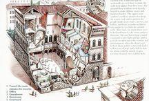Pałace miejskie Florencja i Rzym
