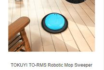 Robotic mop sweeper