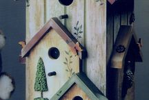Birds houses and feeders