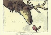 christmas art children winter animal christmas card s / Christmas