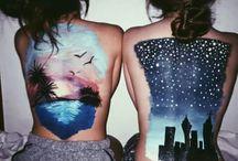 body paint tumblr