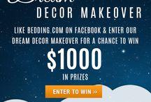 $1,000 Dream Decor Makeover / Enter for a chance to win a $1,000 Makeover. / by Bedding.com