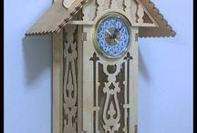Wood Clock