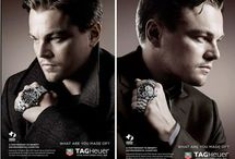 ADS with celebrities for TAG Heuer Watches / This is all the cool ads that are promoting Swiss made TAG Heuer Watches. With all the sexy celebrities, from Brad Pitt, to Leonardo Dicaprio, and Maria Sharapova.   TAG-Heuer-Watches .com