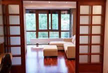 Meranti Wooden sliding doors