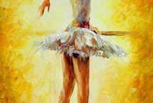 Pinturas a oleo bailarinas