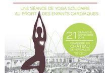 YOGIS DU COEUR / YUJ X MECENAT CHIRURGIE CARDIAQUE  Une séance de yoga solidaire au profit des enfants cardiaques. Dimanche 21 septembre à l'orangerie du château de Versailles.