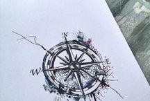 rosa dei venti tatuaggio