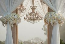 fabric decor wedding