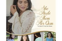 Fall 2016 She Made them Her Own / She Made Them Her Own, a collection of the 10 best patterns designed by Trudy Van Stralen, founder of Louet North America. These patterns, we believe, are her top designs from 15 years of pattern designing. https://www.louet.com/product/00/20.201620/She-Made-Them-Her-Own-Pattern-book