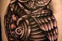 Steampunk tattoos fashion jewelry  / by Hannah Gardner