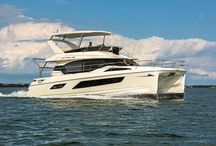 Aquila 44 & 48 Power Catamarans / The new Aquila 44 catamaran offers buyers an easy-to-operate vessel and joins the 38 and 48 in the Aquila Power Cat lineup of power catamarans.