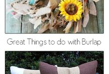burlap / awesome crafts to try...