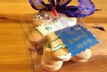 Omini di frolla / Biscotti di pasta frolla colorati e confezionati, home made!