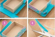 decorate shoe box project