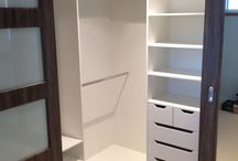 L shape closet