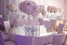Crystal Wedding with Linda Howard Events / We worked with Linda Howard Events and LA Premier Flowers to create this incredible reception design for a wedding at the Beverly Hills Hotel. We hung thousands of crystals on silk ribbons in the ballroom. The space was transformed by lighting, changing from blue to pink throughout the evening. / by Revelry Event Designers