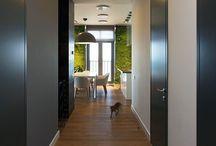 Couloirs, parquets, portes