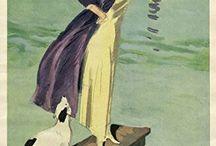 The illustraction signed Gino de Finetti. / DE FINETTI GINO Pisino (Istria) 1877 - Corona (Gorizia) 1955 Frequentò il liceo a Trieste e nello stesso tempo gli studi di A. Zuccaro e E. Scomparini. Nel 1895 si iscrisse all'Accademia di Monaco dove fu allievo del pittore animalista H. Zügel. Stabilitosi poi a Berlino, per qualche anno lavorò come grafico pubblicitario e collaborò come illustratore alle riviste Simplicissimus e Jugend.