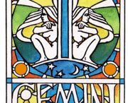 "☼ GEMINI / If you were born under the sign of the twins, you shouldn't see yourself as a ""split personality"". You are simply someone who can see both sides to every coin. It's your ability to be flexible, to act on the spur of the moment and to ask the one obvious question that nobody else seems able to think of which makes you, such a powerful force in business... and such a helpful person to have as a friend."