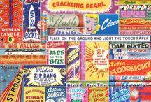 Vintage Fireworks Posters