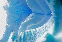 Blue ice & snow