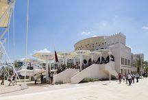 Padiglione Qatar - Expo 2015 / Ancoraggi struttura, posa di ceramica, tinteggiatura pareti interne con MAPEFILL, ULTRALITE FLEX, DURSILITE MATT