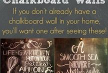 Chalk board walls