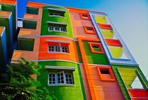 Colorful Building/Street Wall