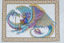 Cross stitch Dragons