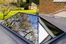 XACT Pure Glass Roof Lantern / The XACT Pure Glass Roof Lantern is a unique design frameless glass roof lantern. Innovative engineering and skilled manufacturing, using only high grade components, ensures our product is always of superior quality.  The glass roof lantern's clean, minimalist design makes it a fantastic choice for both modern and traditionally styled properties.