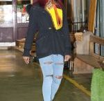 APRIL JACKSON Out Shopping in London