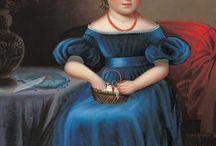Folk Art portraits and paintings