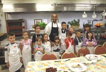 "For Kids by Kids project / With the support of Mama Magazine and Yumama web portal, Hyatt Regency Belgrade organised a kids' competition for the best healthy food drawings. Many creative kids joined us with their parents in the kitchen of Metropolitan Grill restaurant. They actively participated in the process of food preparation and creation of the new ""For kids by kids"" menu that we will maintain as a special menu for the youngest  in our restaurant.   / by Hyatt Regency Belgrade"