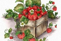 decoupage owoce