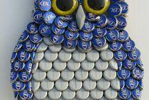 Mosaico de tampinhas