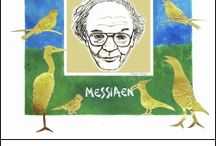 Messiaen / Olivier Messiaen was a 20th century French composer, organist, teacher, theologian and ornithologist.  One of the most influential composers of the 20th century. His avant-garde music often incorporates transcriptions of birdsong and was influenced by his deep religious convictions.